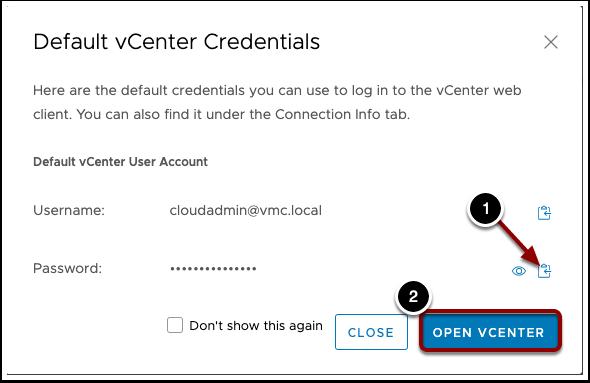HLM copy vCenter Credentials